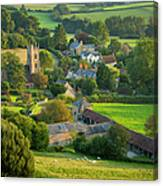 Country Village - England Canvas Print