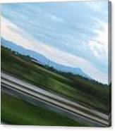 Countryside Flying By Canvas Print