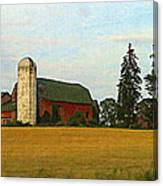 County Barn - Digital Painting Effect Canvas Print