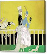Couple At The Races, 1916 Canvas Print