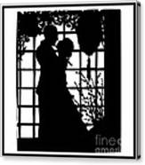 Couple In Love Silhouette Canvas Print