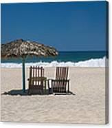 Couple In The Shade Canvas Print