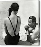 Couple On A Beach Canvas Print