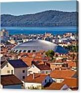 Coupola Sports Hall Landmark In Zadar Canvas Print