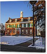 Court House In Winter Time Canvas Print