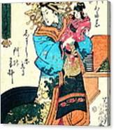 Courtesan Takimoto 1818 Canvas Print