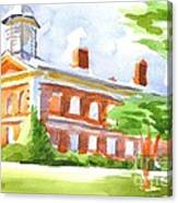 Courthouse In Summery Sun Canvas Print