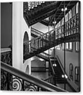 Courthouse Staircases Canvas Print