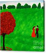 Courting Couple Canvas Print