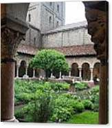 Courtyard At The Cloisters Canvas Print