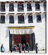 Courtyard Entry To Potala Palace In Lhasa-tibet Canvas Print