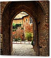 Courtyard Of Cathedral Of Ste-cecile In Albi France Canvas Print