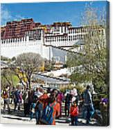 Courtyard Of Potala Palace In Lhasa-tibet Canvas Print
