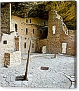Courtyard Of Spruce Tree House On Chapin Mesa In Mesa Verde National Park-colorado  Canvas Print