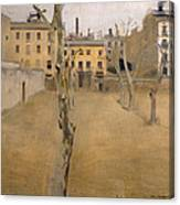 Courtyard Of The Old Barcelona Prison. Courtyard Of The Lambs Canvas Print