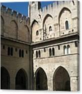 Courtyard - Palace Avignon Canvas Print