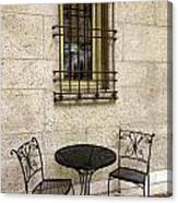 Courtyard Seating For Two Canvas Print