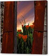 Courtyard Window Canvas Print