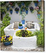 Courtyard With Washing Boards Canvas Print