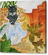 Cousins - Big Cats Canvas Print