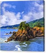 Cove On The Oregon Coast Canvas Print