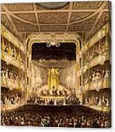 Covent Garden Theatre, From Microcosm Canvas Print