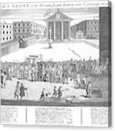 Covent Garden Theatre Is Built Canvas Print