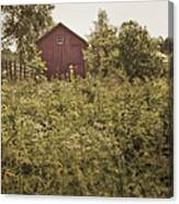 Covered Barn Canvas Print