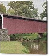 Covered Bridge Canvas Print