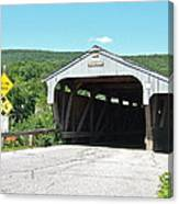Covered Bridge For Pedestrians Canvas Print