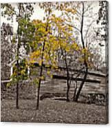 Covered Bridge In Autumn Canvas Print