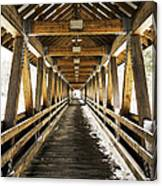 Covered Bridge Littleton New Hampshire Canvas Print