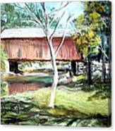 Covered Bridge Newport Nh Canvas Print