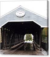 Covered Bridge North Conway Sacco River Canvas Print