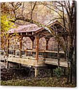 Covered Bridge On The River Walk Canvas Print