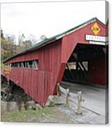 Covered Bridge Taftsville Canvas Print