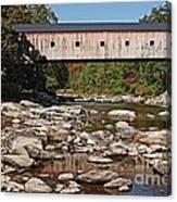 Covered Bridge Vermont 7 Canvas Print