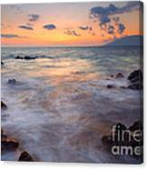 Covered By The Sea Canvas Print