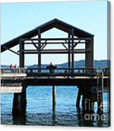 Covered Pier At Port Townsend Canvas Print