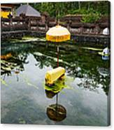 Covered Stones With Umbrella In Ritual Canvas Print