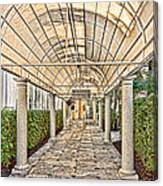 Covered Walkway Canvas Print