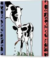 Cow Artist Cow Art Canvas Print