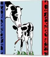 Cow Artist Cow Art II Canvas Print