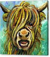 Cow Face 101 Canvas Print