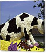 Cow On Clog 3 Canvas Print