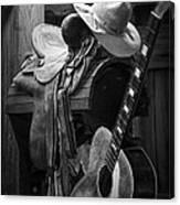 Cowboy Acoustic Guitar Canvas Print