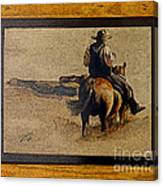 Cowboy Art By L. Sanchez Canvas Print