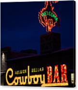 Cowboy Bar Canvas Print