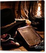 Cowboy Bible Canvas Print