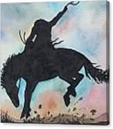 Cowboy Bronco Canvas Print